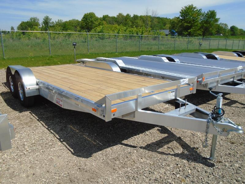 2018 American Hauler Industries 8x18 Flat Deck Wood/Tandem Utility Trailer in Wascott, WI