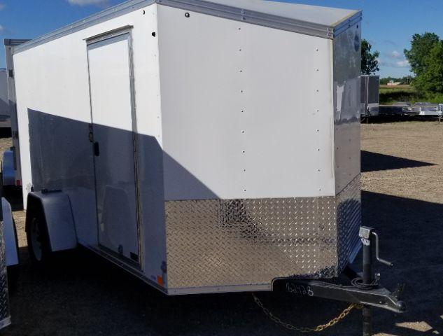 2019 United Trailers XLV-612SA30-S V-NOSE SLANT/RAMP DOOR Enclosed Cargo Trailer