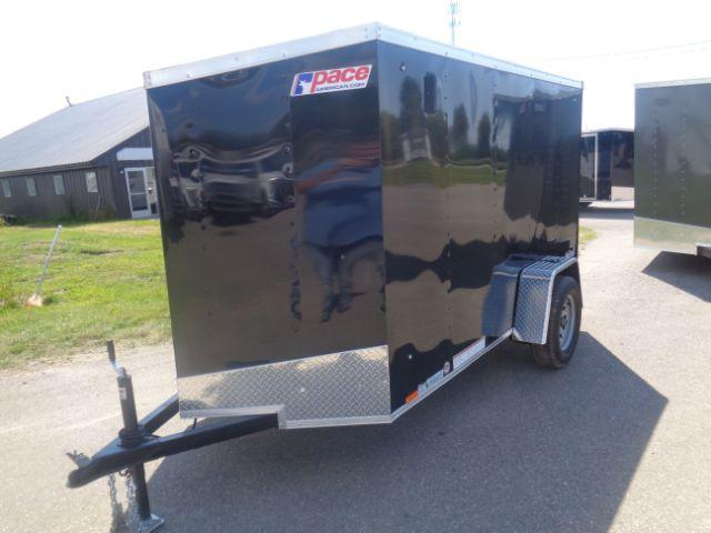 2019 Pace American 5x10 V NOSE BARN DOOR Enclosed Cargo Trailer
