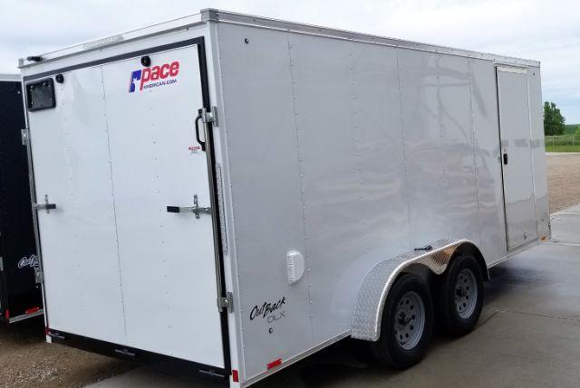 2019 Pace American OB7X16TE2 V-NOSE/RAMP DOOR/SIDE DOOR Enclosed Cargo Trailer