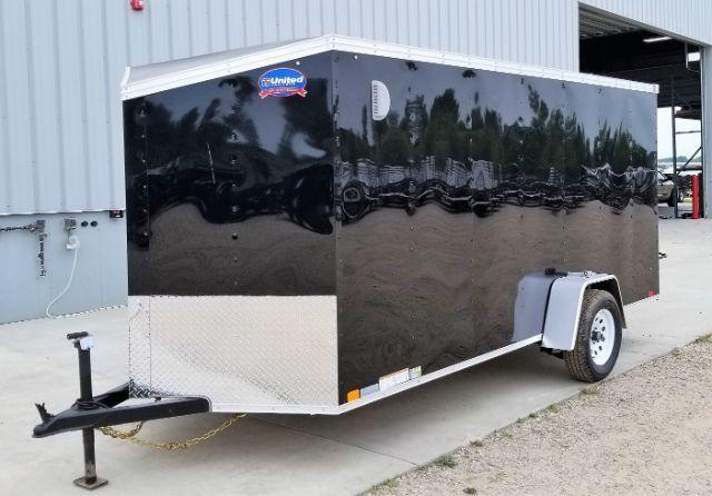 2019 United Trailers XLV-614SA30-S Slant V-Nose/Ramp Door Enclosed Cargo Trailer