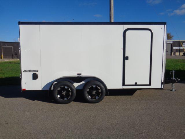 2019 Impact ITB714TA2 Slant V-Nose/Ramp Door BLACKED OUT TRIM! Cargo Trailer