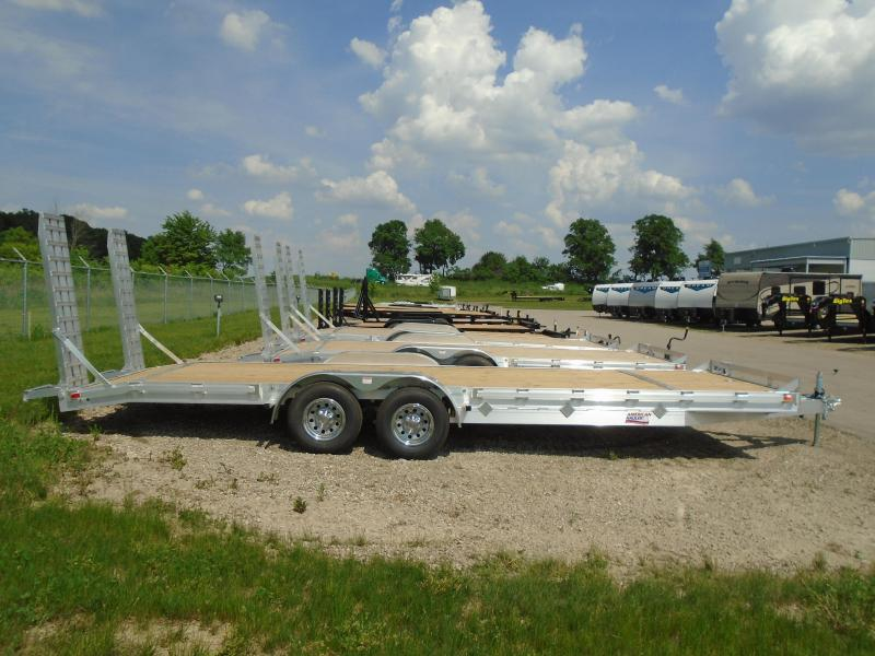 2018 American Hauler Industries 8x24 Equipment Hauler Wood Flat Deck Trailer in Downing, WI