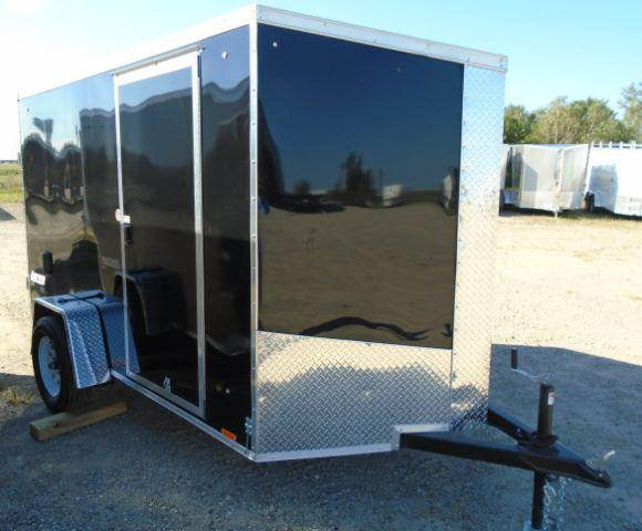 2019 Pace American JV6X10SI2 V-NOSE/RAMP DOOR/SIDE DOOR Enclosed Cargo Trailer