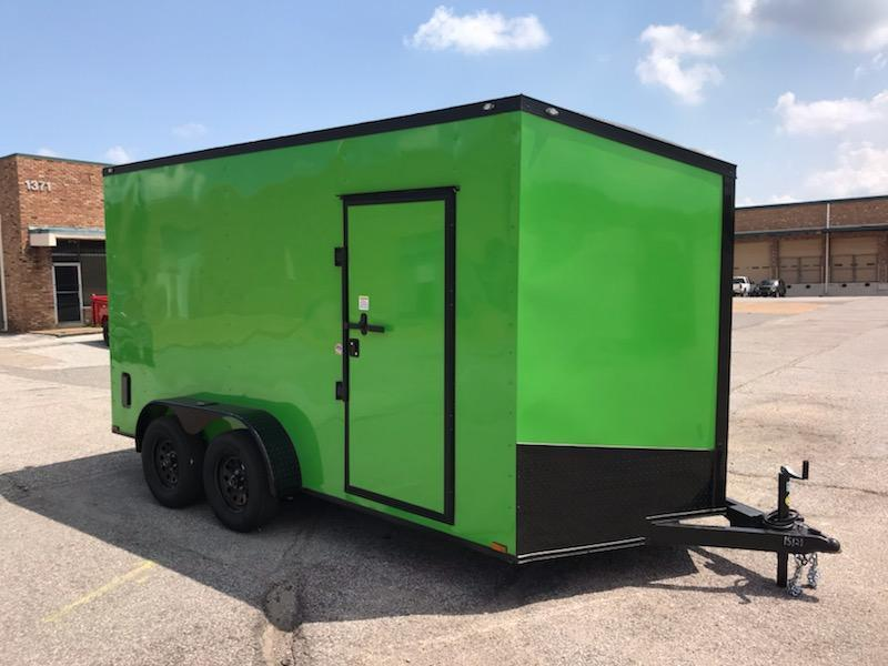2019 Spartan 7 x 14 Green Enclosed Cargo Trailer in Ashburn, VA