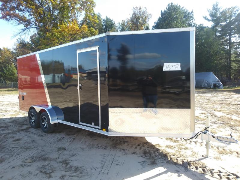 2019 Look 7x23 Enclosed 3 Place Snowmobile Trailer