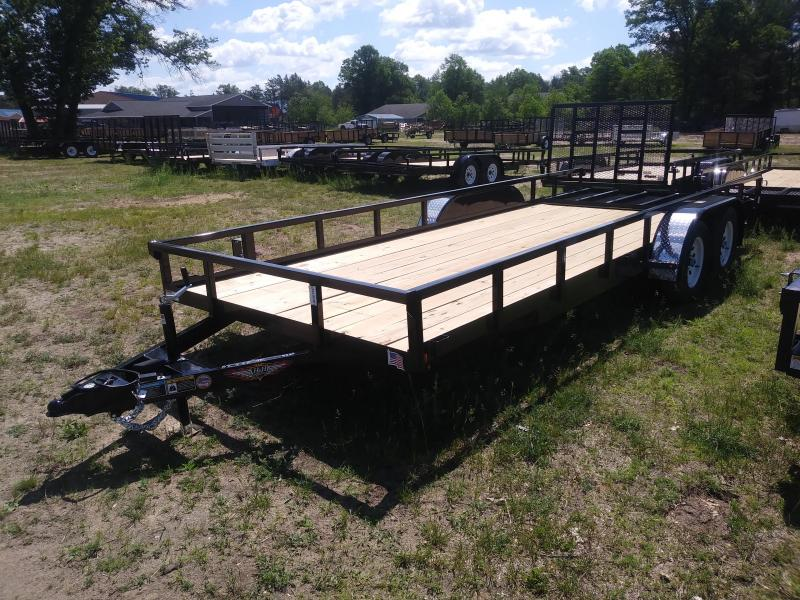 2019 H and H Trailer 8.5X20 STL RAIL SIDE TANDEM 7K