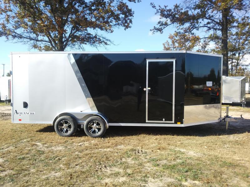 New 2019 7x23 Look Enclosed 3 Place Snowmobile Trailer