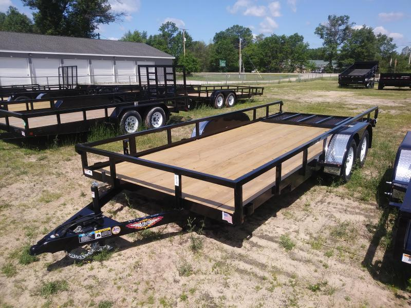 2019 H and H Trailer 8.5.X18 STL RAIL SIDE TANDEM 7K