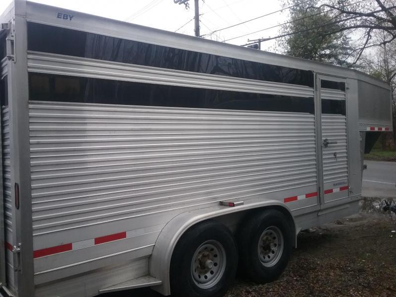 2014 EBY Maverick GN Stock Horse Trailer