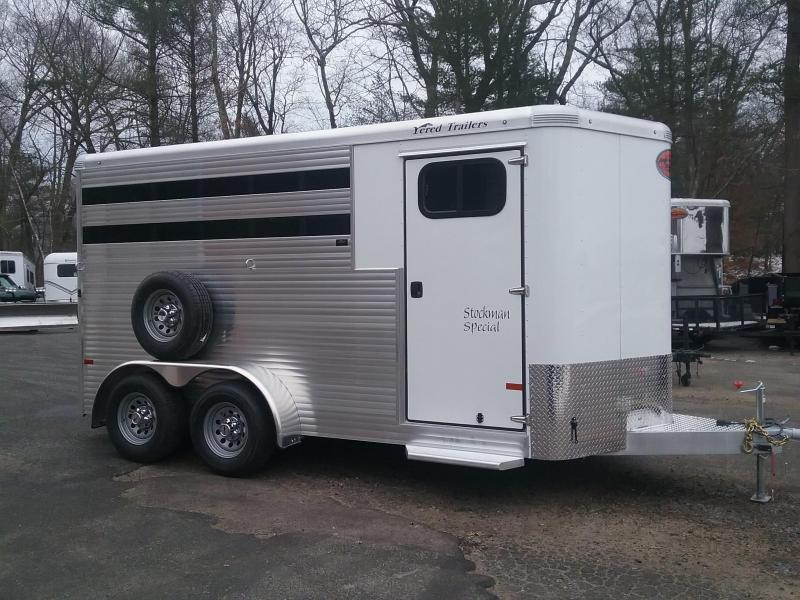 2020 Sundowner Trailers Stockman 3H Slant Combo BP Horse Trailer