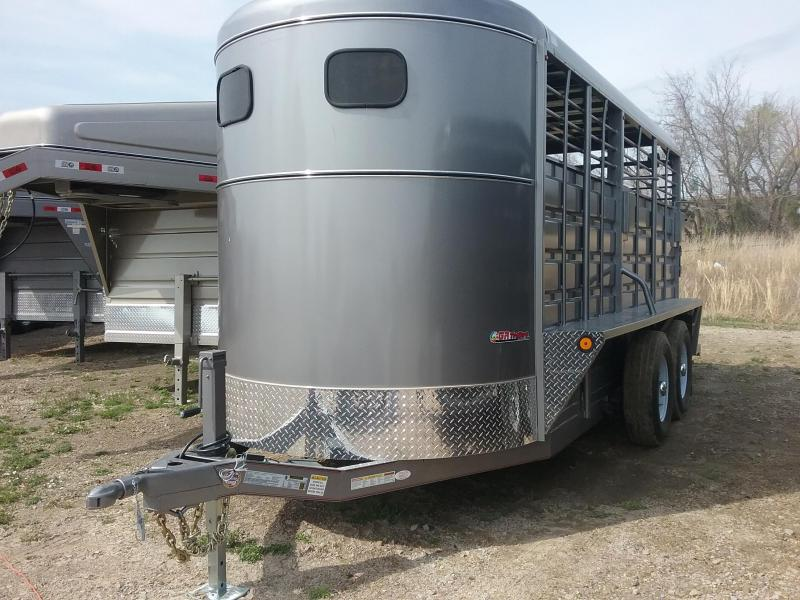 2019 GR Trailers BFST6016W10LR Livestock Trailer