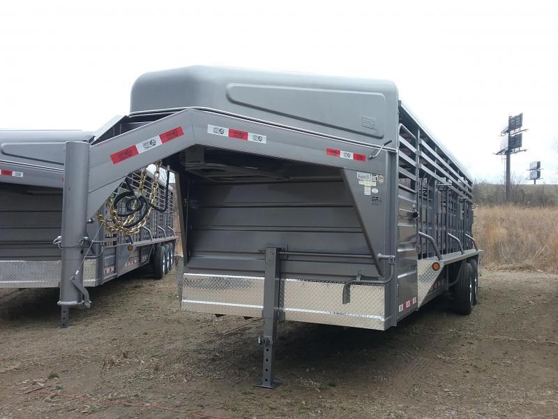 2019 GR Trailers STH6824W14LNRGS Livestock Trailer