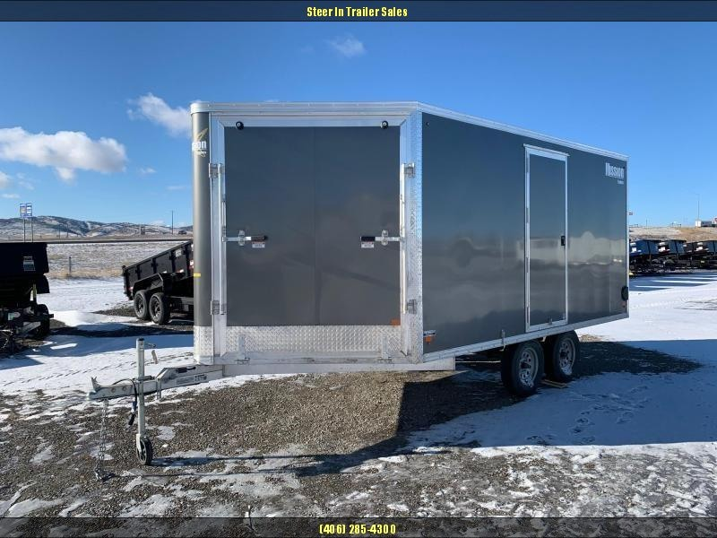 2019 Mission MES 101X14DL Snowmobile Trailer