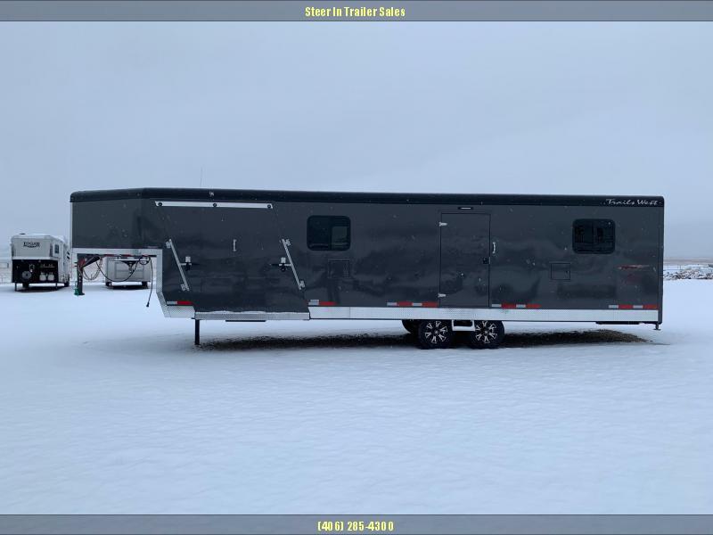 2019 Trails West  RPM GN 28' Snowmobile Trailer