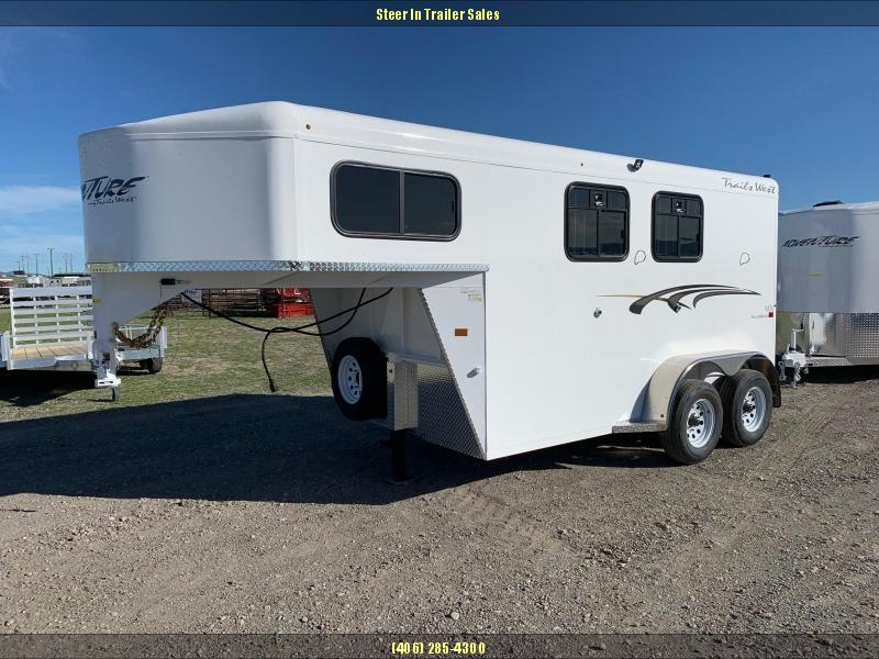 2020 Trails West Adventure MX GN 2 Horse Trailer