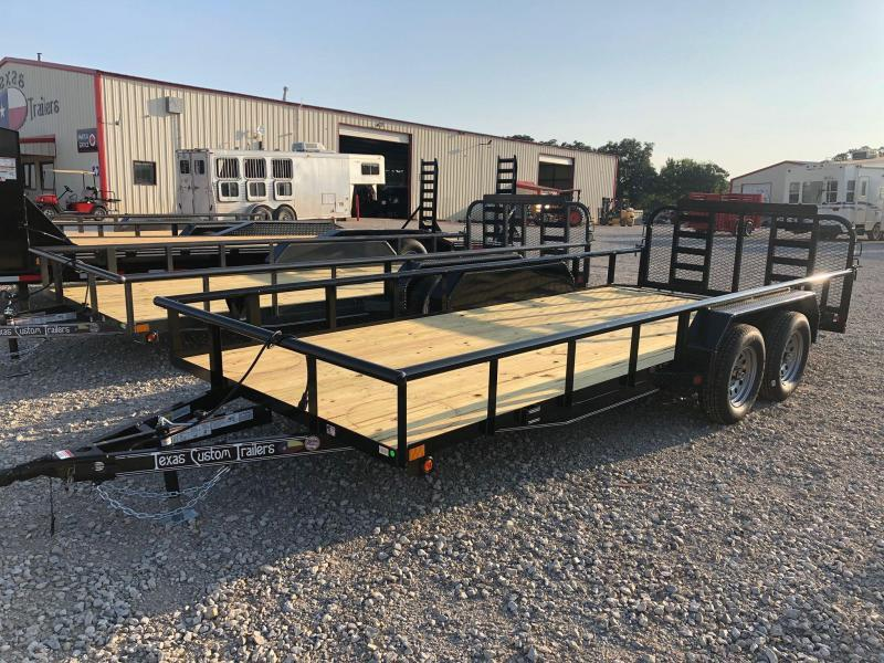 "2020 East Texas 83""x18' 7K Utility Trailer"