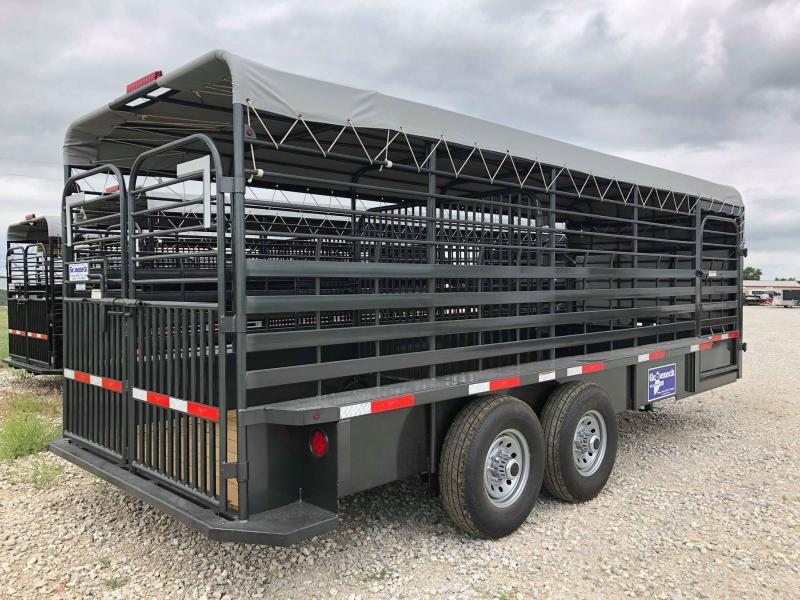 "2019 Gooseneck 20'x6'8"" Steel Livestock Trailer"