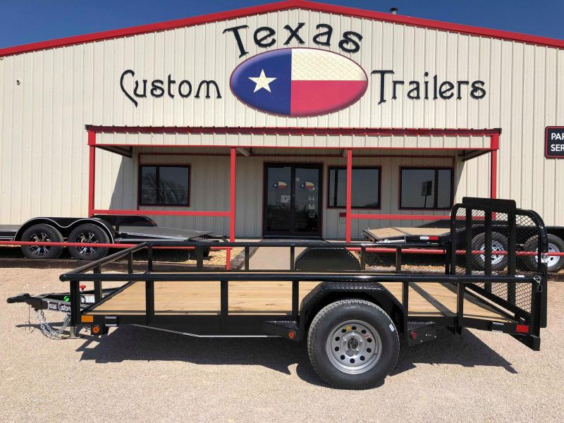 2019 East Texas 77X12 Single Axle Trailer