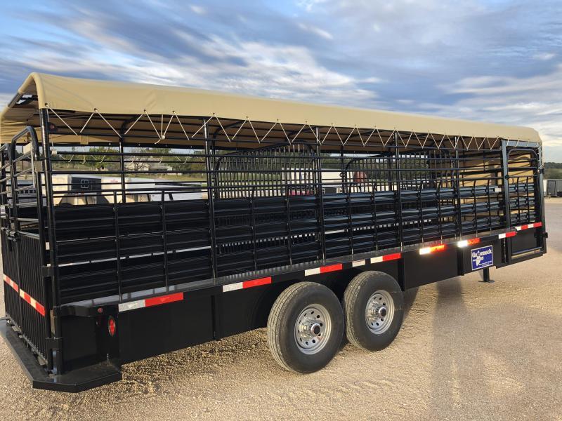 2018 Gooseneck 20X6 Canvas Top Livestock Trailer