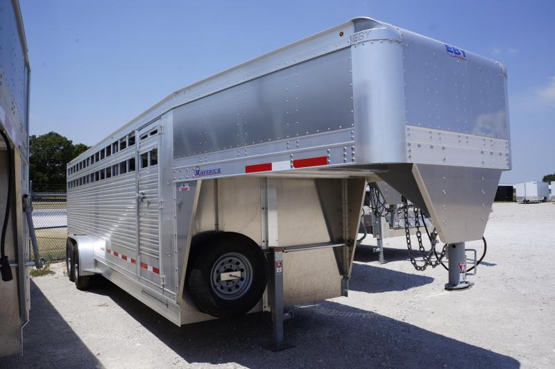 2019 Eby Trailers 24' Maverick Freedom Edition Livestock Trailer