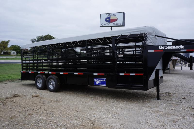 2018 Gooseneck 24'X6.8' Canvas Top Livestock Trailer