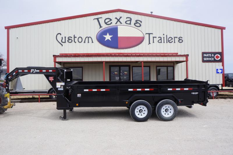 2019 PJ Trailers 16X83 Low Pro GN Dump Trailer