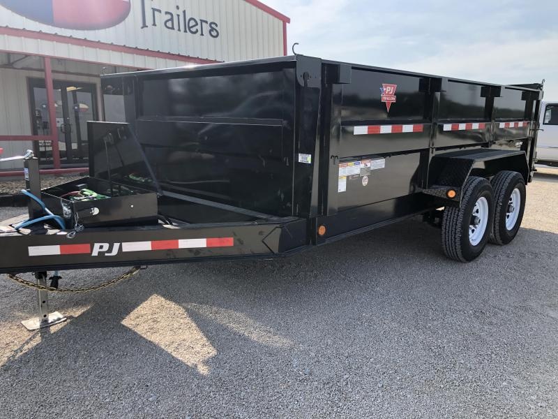 "2020 PJ Trailers 14'X83"" Low Pro High Side Dump (DM) Dump Trailer"