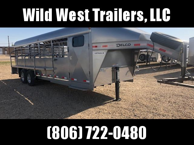 2018 Delco Trailers 24ft Full Top Livestock Trailer