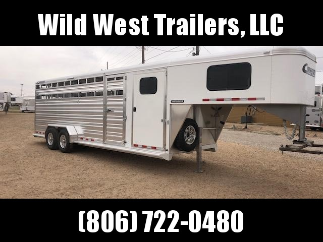 2018 Cimarron Trailers Lone Star 24ft Livestock Trailer