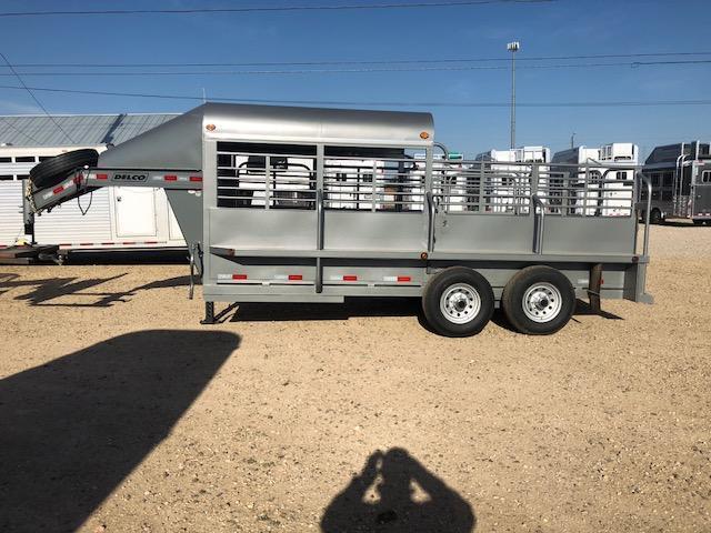 2018 Delco Trailers Half Top Livestock Trailer