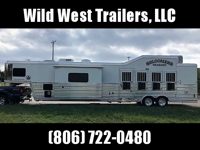 2010 Bloomer Trailer Manufacturing 18ft LQ w/slide Horse Trailer