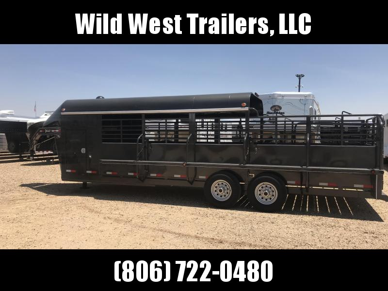 2018 Delco 24ft 3/4 Top Livestock Trailer