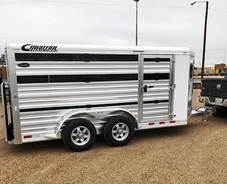 2019 Cimarron 6 Pen Livestock Trailer