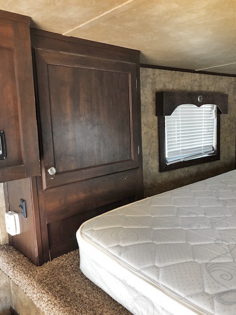 2014 Black Exiss Living Quarters Stock Trailer