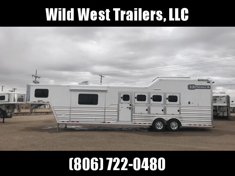 "2018 Cimarron Trailers 4 Horse - 12'9"" SW Trailer"