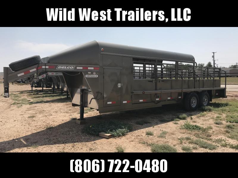 2018 Delco Trailers 24ft Livestock Trailer