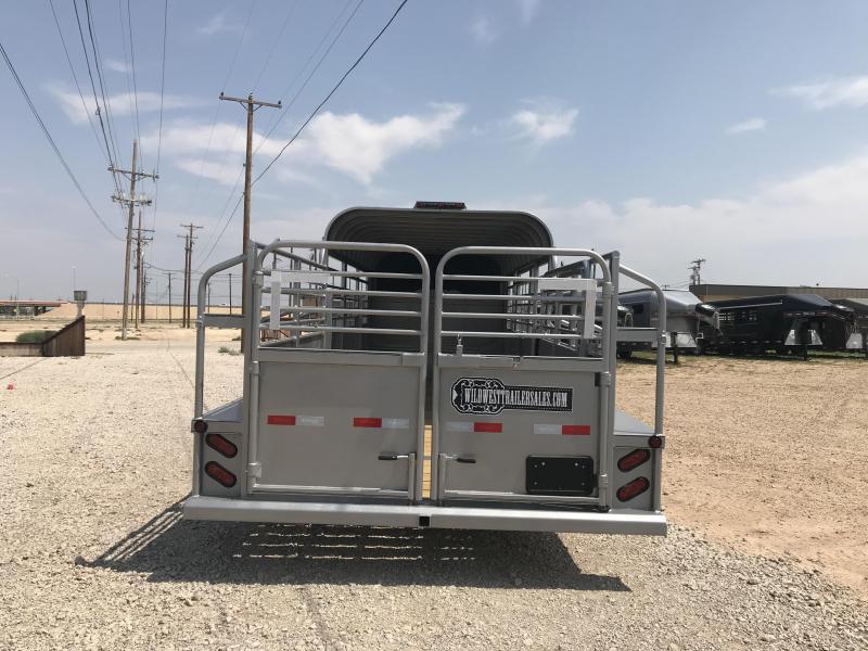 2018 Delco 3/4 Top 24ft Livestock Trailer