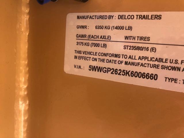 2019 Delco Smart Tack Horse Trailer