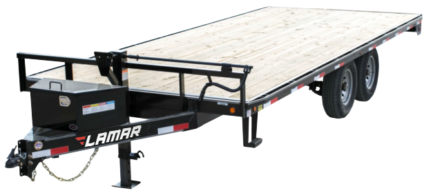 2018 Lamar 24ft Deck-Over Flatbed Trailer