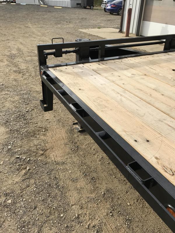 2018 Load Trail 12 22 Lb I-beam Pintle Hook Heavy Duty Equipment Trailer