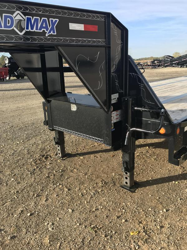 2018 Load Max GL24 - Gooseneck Low-Pro w/ Hyd Dove Tail 24000 L Flatbed Trailer