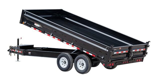 2018 PJ Trailers 10 in. I-Beam Deckover Dump (DT) Dump Trailer