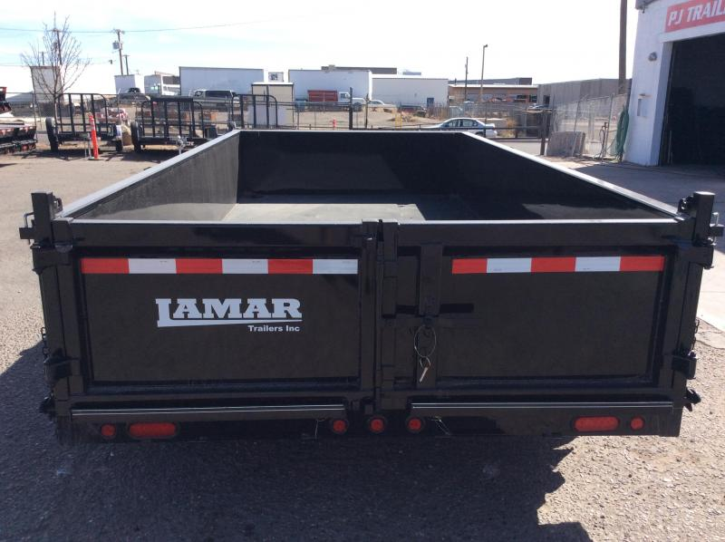 2018 14FT Lamar Trailers Low-Pro Dump Trailer (DL)