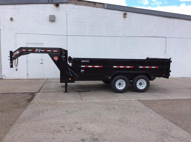 **$8600 Cash** 2018 14FT PJ Gooseneck Tandem Axle Dump Trailer