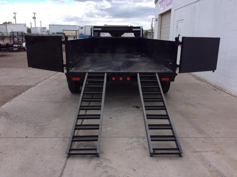 **$7800 Cash** 2018 14FT PJ Gooseneck Tandem Axle Dump Trailer