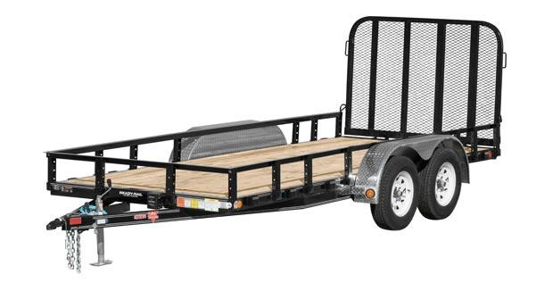 2018 PJ Trailers 72 in. Tandem Axle Channel Utility (UJ) Utility Trailer
