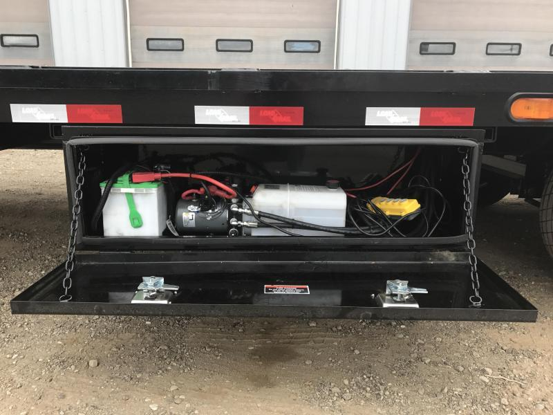2018 Load Trail 12 22 Lb I-beam Gooseneck LowPro w/Hydraulic Dove Flatbed Trailer