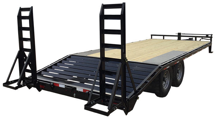 2018 24FT Lamar Trailers Deck-Over Flatbed