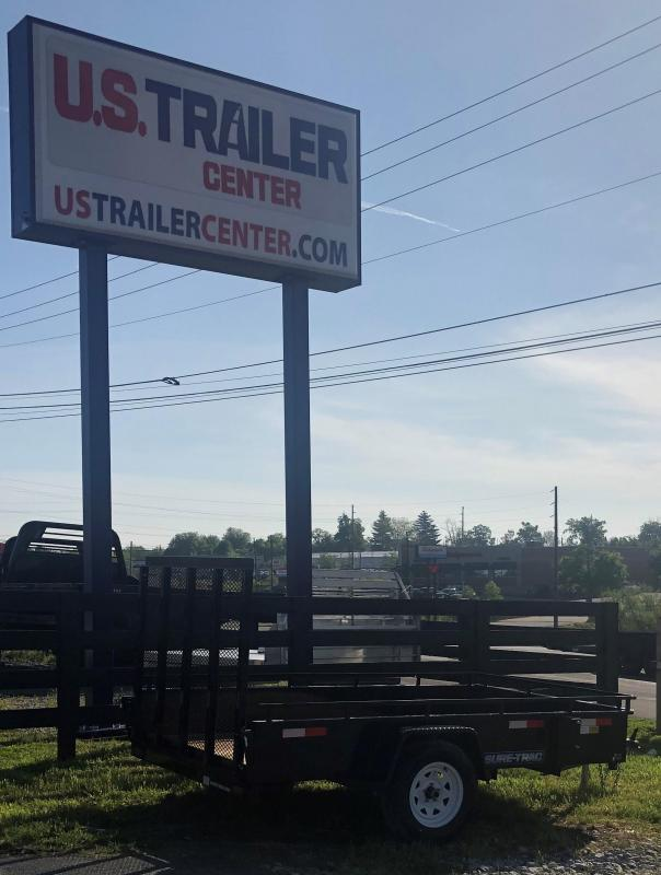 2019 Sure-Trac 6 x 10 Steel High Side  3k Idler UTILITY TRAILER LAWN LANDSCAPE TRAILER